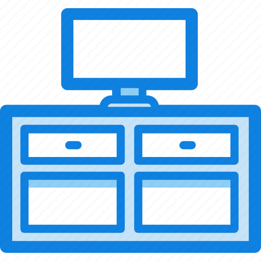 furniture, stand, table, tv, tv stand icon
