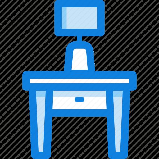 desk, furniture, lamp, table icon
