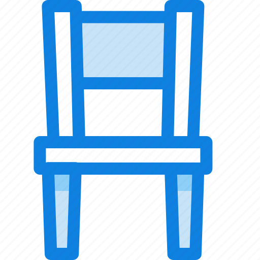 chair, furniture, wood icon