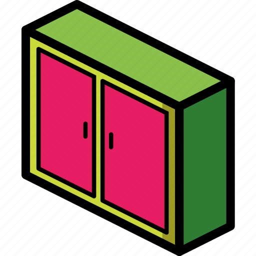 bedroom, cabinet, furniture, household icon