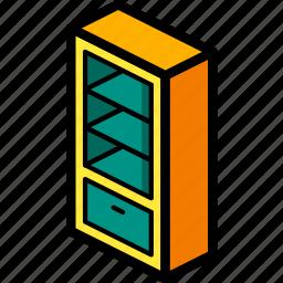 bedroom, furniture, household, shelves icon