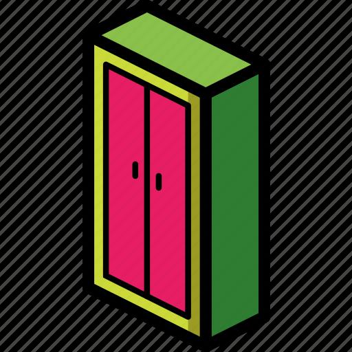 bedroom, furniture, household, wardrobe icon
