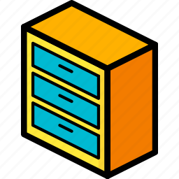bedroom, drawers, furniture, household icon