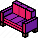 furniture, household, lounge, sofa icon