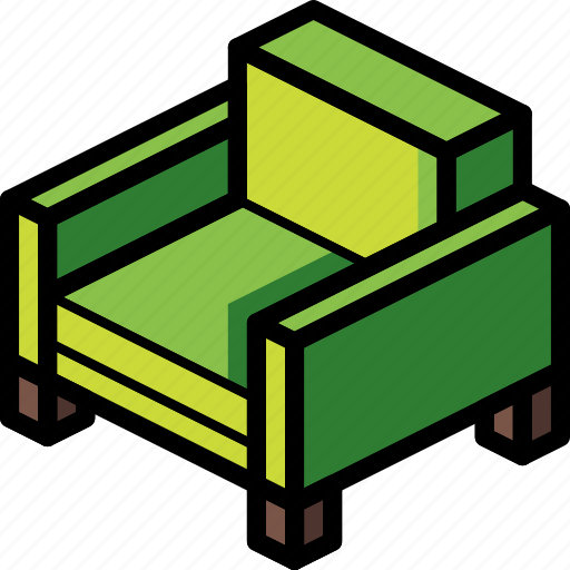 arm, chair, furniture, household, iso, lounge icon