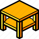 furniture, household, iso, lounge, table icon