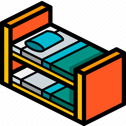 bed, bedroom, bunk, furniture, household, iso icon