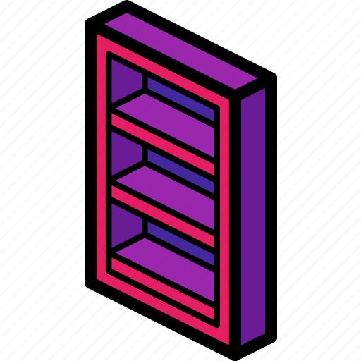 book, case, furniture, household, iso icon