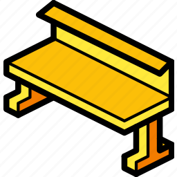 bench, furniture, iso, ultra icon