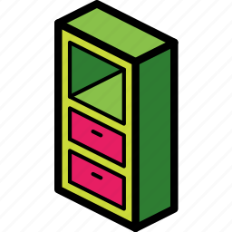 drawers, furniture, iso, ultra icon