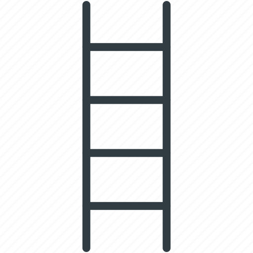 firefighting ladder, ladder, ladder steps, staircase, stairs icon