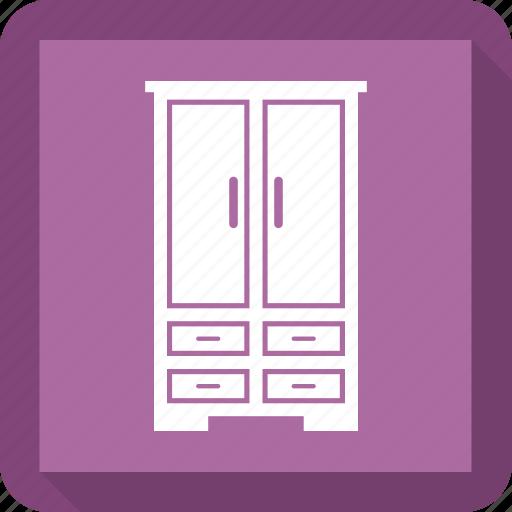 bedroom, furniture, interior, nightstand icon