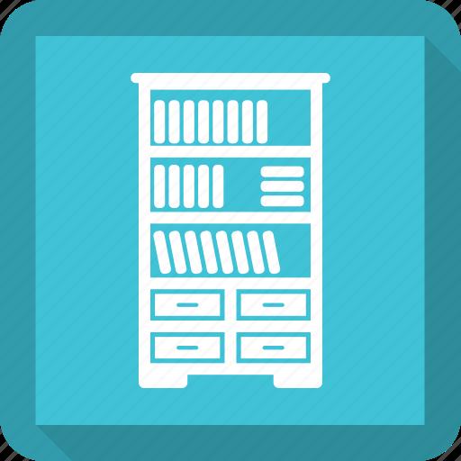 book, cabinet, cupboard, furniture, interior icon