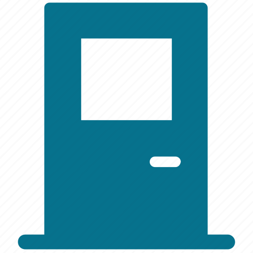 closed door, door, door variant, house door icon