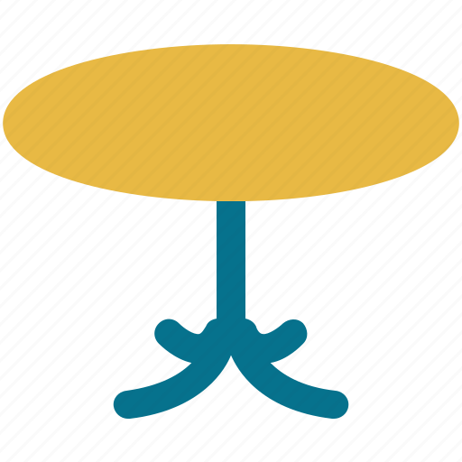 furniture, interior, round table, table icon