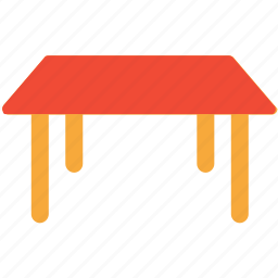 furniture, interior, simple table, table icon