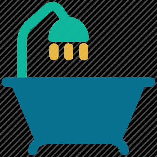 bathroom, bathtub, shower, tub icon