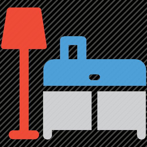 floor lamp, furniture, interior, table icon