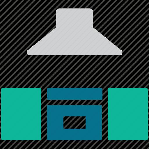 hood, kitchen, kitchen cabinet, kitchen furniture icon