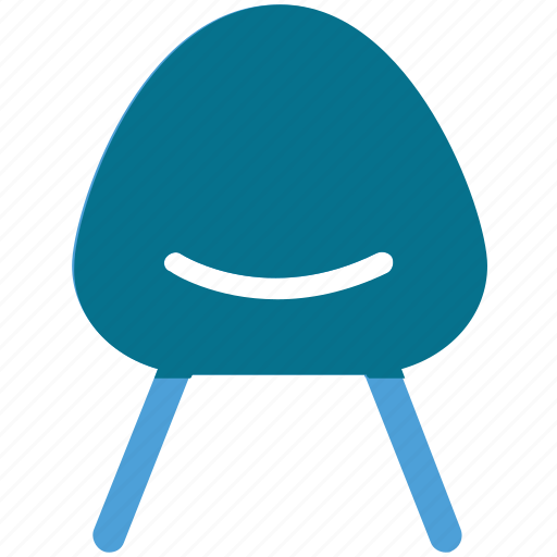 chair, furniture, seat, side chair icon
