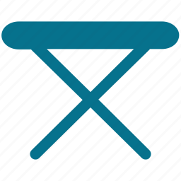 folding table, furniture, iron stand, iron table icon
