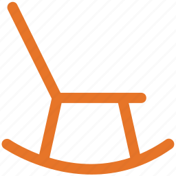 chair, furniture, living room furniture, rocking chair icon