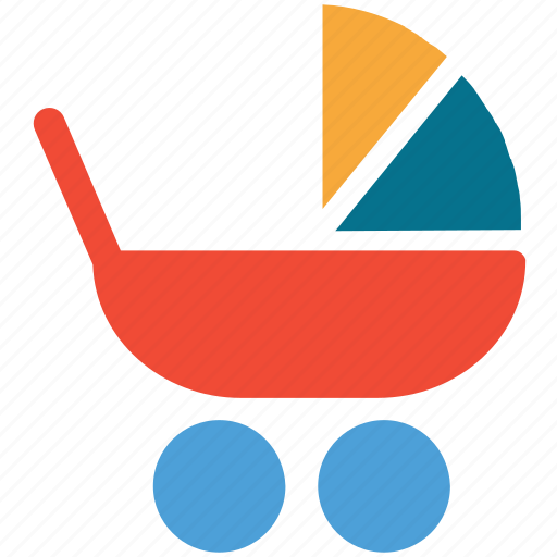 baby carriage, baby cart, cart, stroller icon