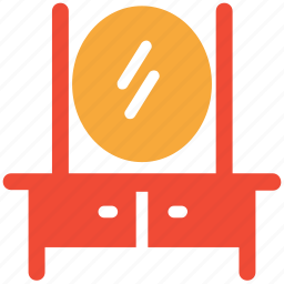 dresser, dresser with mirror, furniture, looking mirror icon