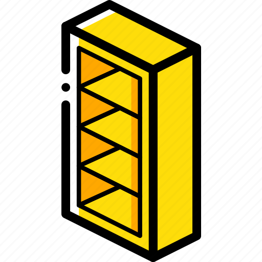 bookcase, furniture, household, iso, lounge icon