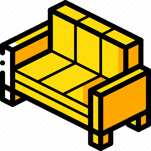 furniture, household, iso, lounge, sofa icon