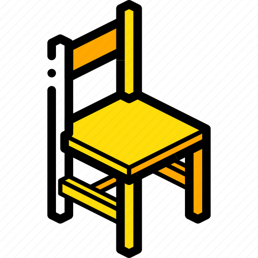 Chair, furniture, household, iso, kitchen icon - Download on Iconfinder