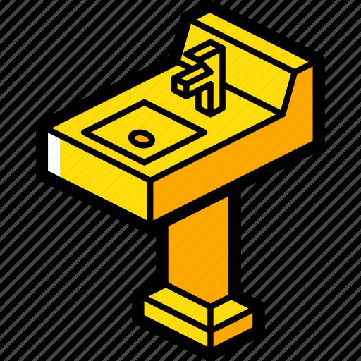 bathroom, furniture, household, iso, sink icon