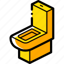 bathroom, furniture, household, iso, toilet icon