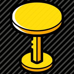 furniture, household, iso, kitchen, stool icon