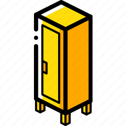 bedroom, furniture, household, iso, locker icon