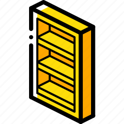 bedroom, book, case, furniture, household, iso icon