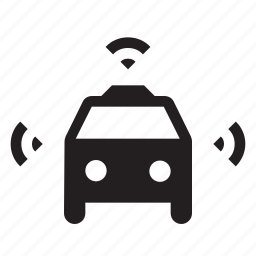 cab, car, driverless, smart, taxi, uber, wifi icon