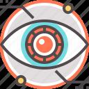 artificial, cyber, eye, future, retina icon