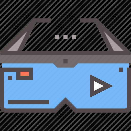 ar, futuristic, glasses, smart, smartglasses icon
