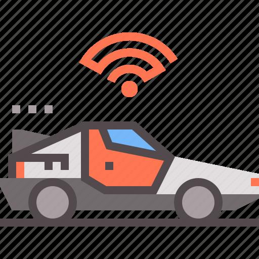 autonomous, car, future, transport, vehicle icon