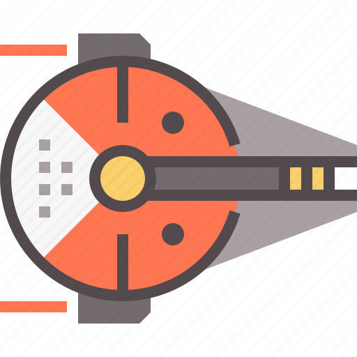 interceptor, space, spacecraft, spaceship icon