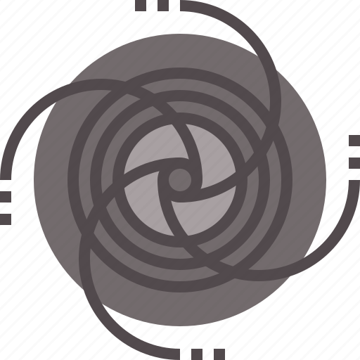 abstract, black, field, hole, rotate icon