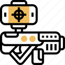 weapons, gun, technology, shooting, kill icon