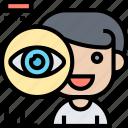 eye, controlled, technology, bionic, futuristic icon