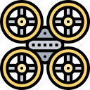 space, drone, quadcopter, aircraft, autopilot icon