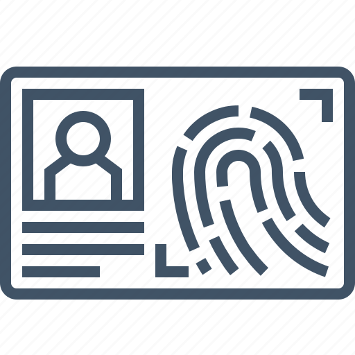 biometric, card, fingerprint, id, identity icon