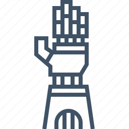 arm, artificial, hand, mechanical, robot icon