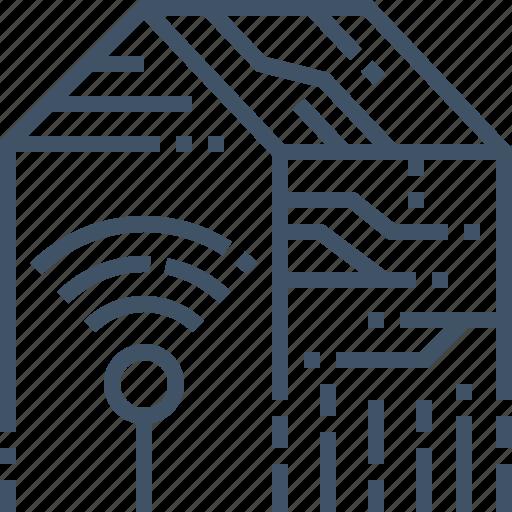 home, smart, wifi, wireless icon