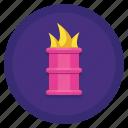 barrel, burning, fire, flame