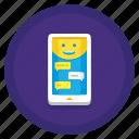 conversational, interface, interfaces, ui icon